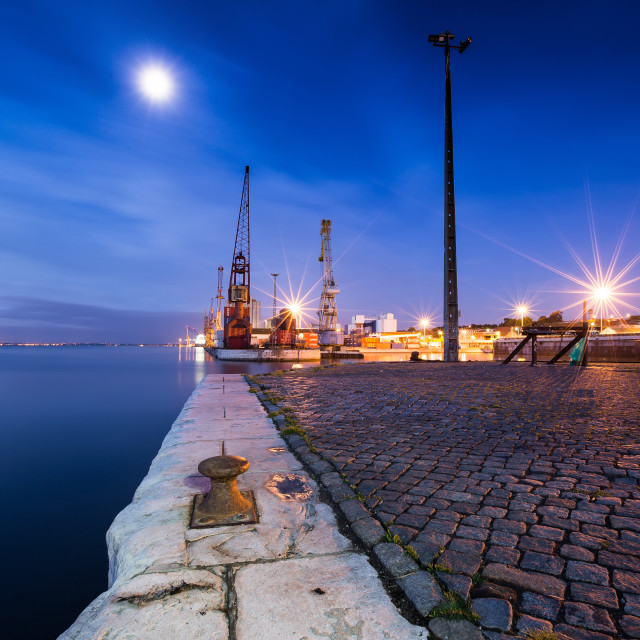 """Lisbon Docks"" stock image"