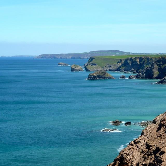 """North Cornwall Coast"" stock image"