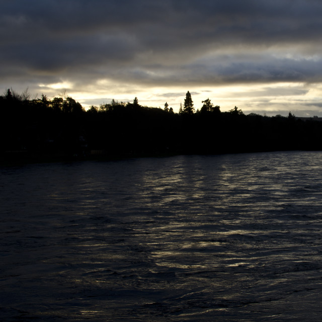 """""""River Ness at Dusk"""" stock image"""