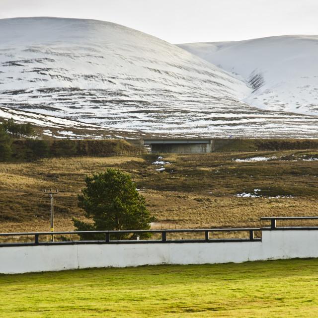 """Highland Landscape near Dalwhinnie"" stock image"