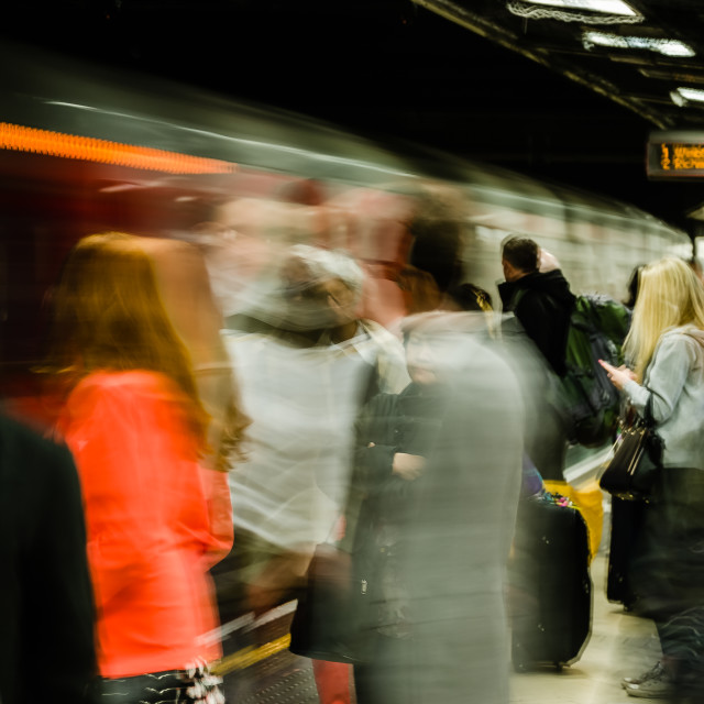 """""""One Second of Rush Hour"""" stock image"""