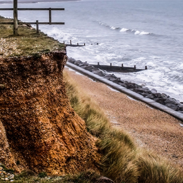 """""""Crumbling Cliff"""" stock image"""