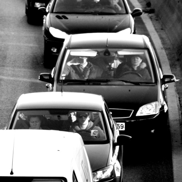 """Traffic jam"" stock image"