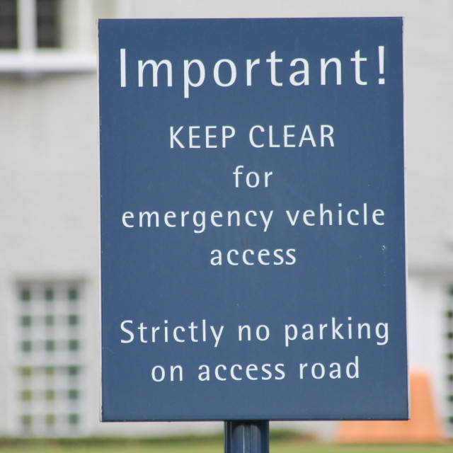 """""""Important parking restriction"""" stock image"""