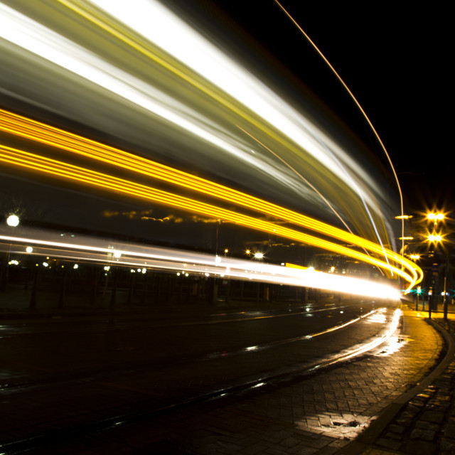 """Manchester Metrolink at Speed"" stock image"