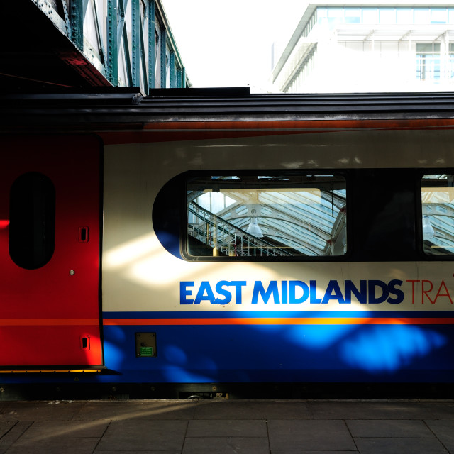 """East Midlands Trains."" stock image"