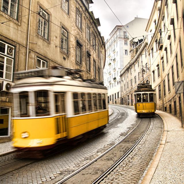 """Lisbon Trams - Tram 28"" stock image"