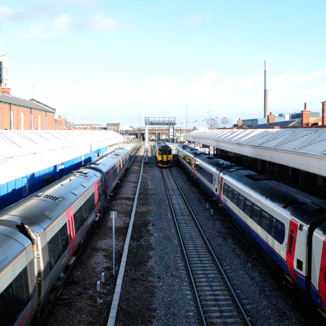 """Nottingham Train Station Platform ."" stock image"