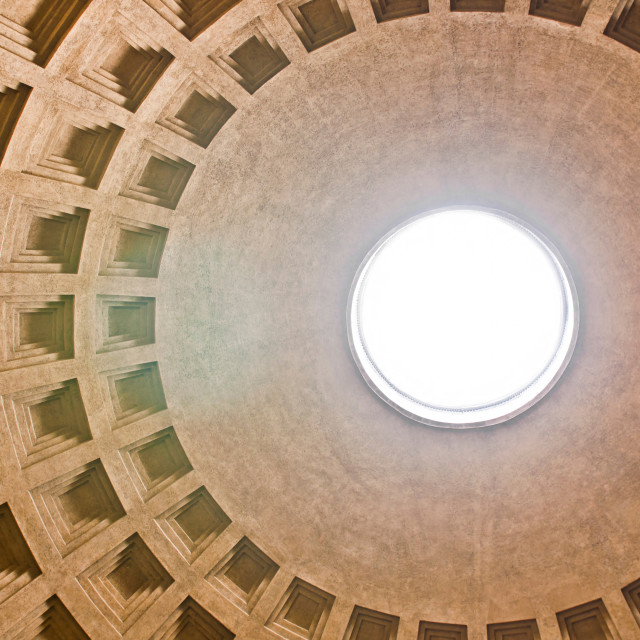 """Pantheon Dome"" stock image"