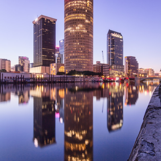 """Tampa City Sunrise"" stock image"