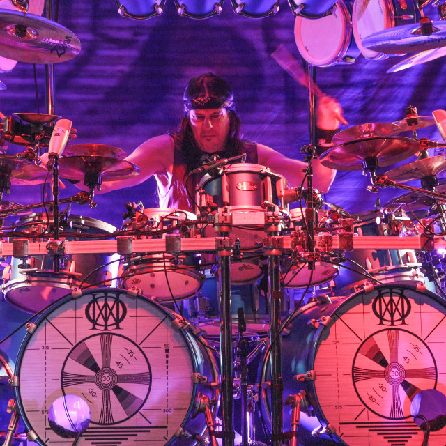 """Dream Theater live - Mike Mangini Drummer"" stock image"