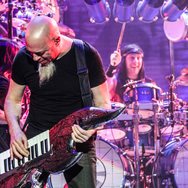 """Dream Theater live - Jordan Rudess & Mike Mangini"" stock image"