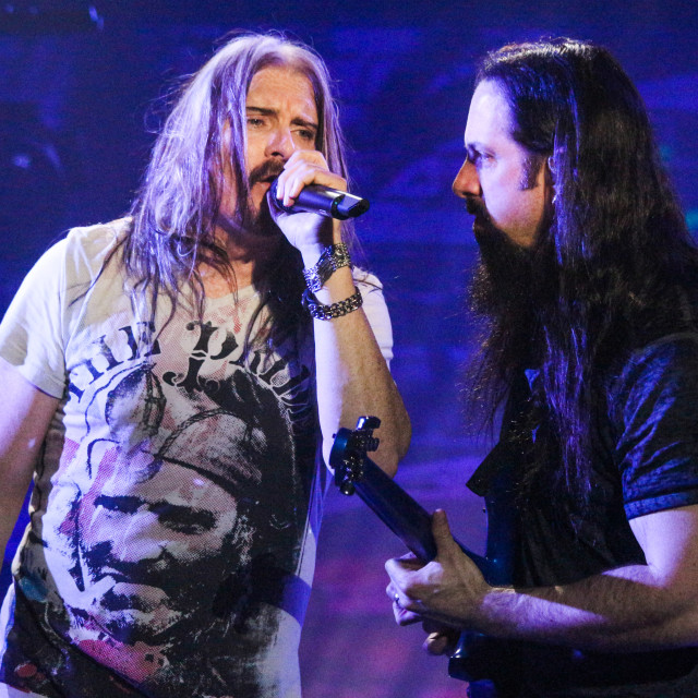 """Dream Theater live - James LaBrie & John Petrucci"" stock image"