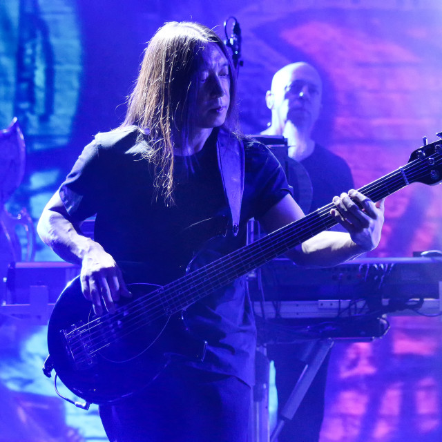 """Dream Theater live - John Myung"" stock image"