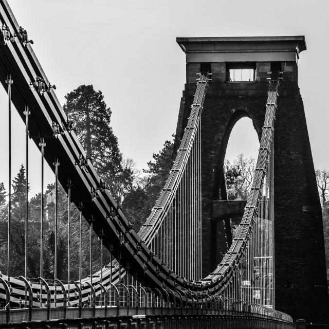 """Clifton bridge"" stock image"