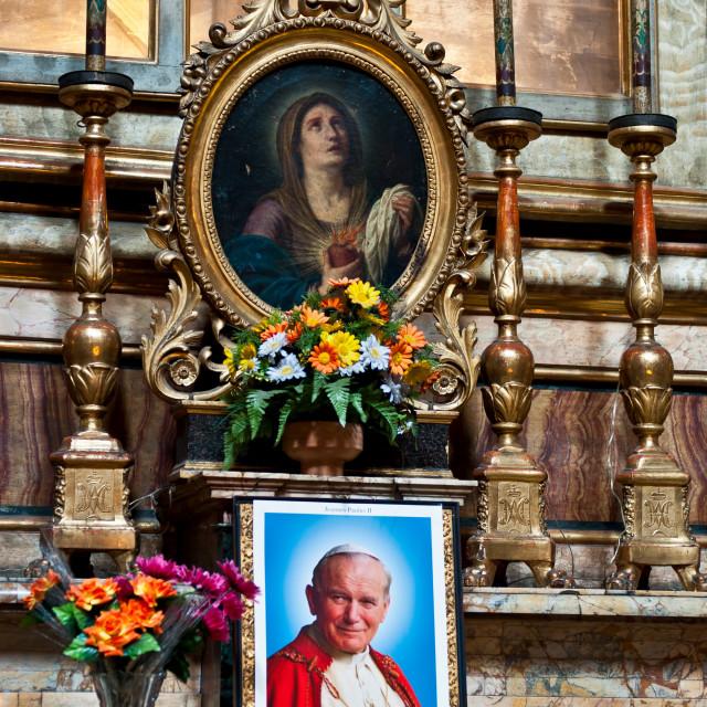 """Prayers for Pope John Paul II"" stock image"