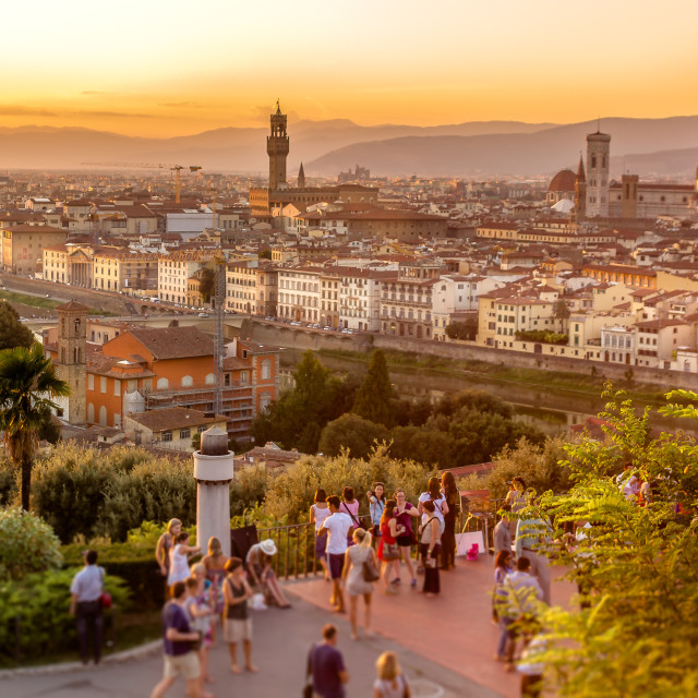 """Sunset in Florence"" stock image"