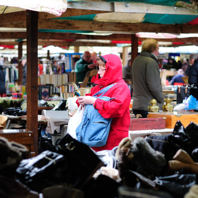 """Chesterfield Market 'Texting' ."" stock image"