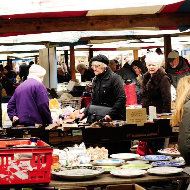 """Chesterfield Market,UK."" stock image"