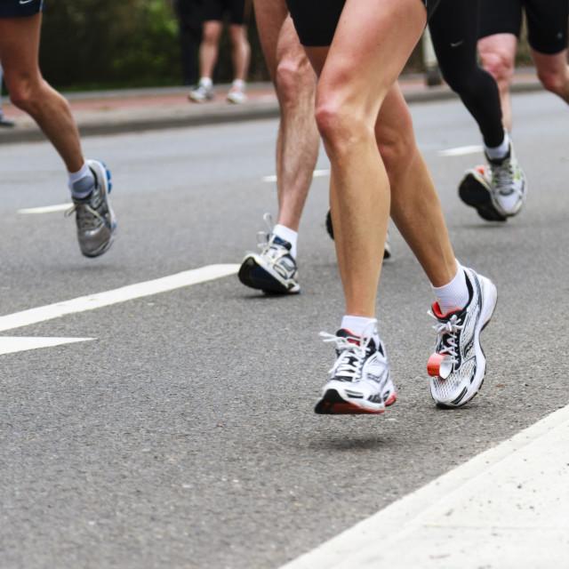 """Marathon legs"" stock image"