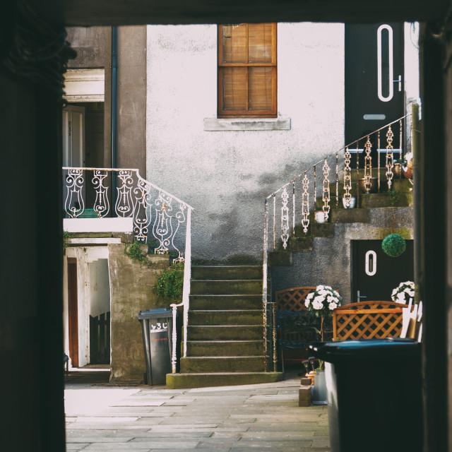 """Street scene - steps"" stock image"