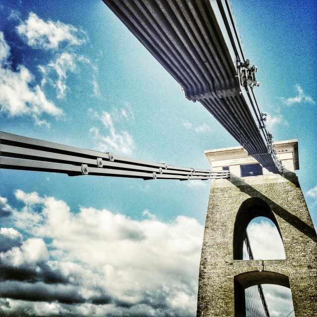 """The Clifton Suspension Bridge"" stock image"