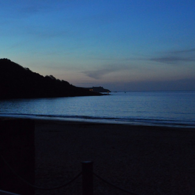 """Carbis Bay at Dusk"" stock image"