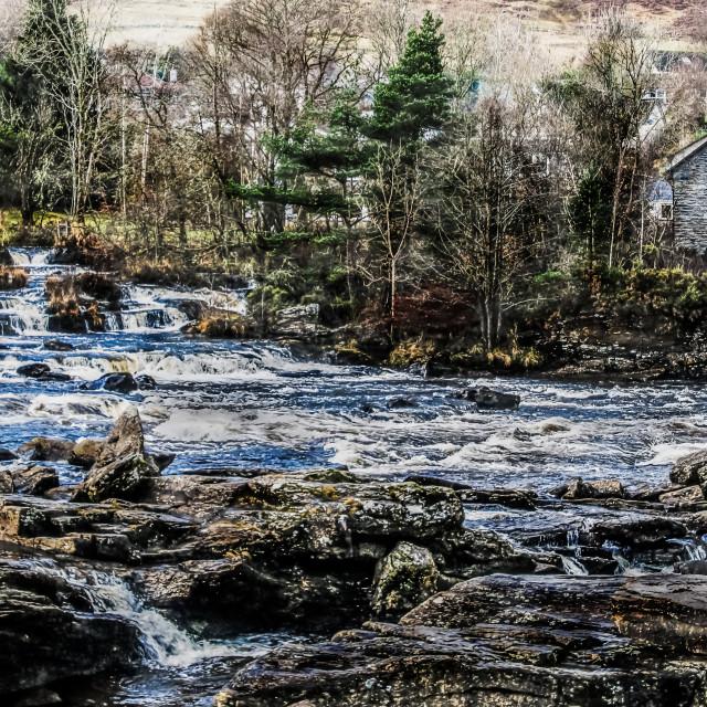 """The Falls of Dochart"" stock image"