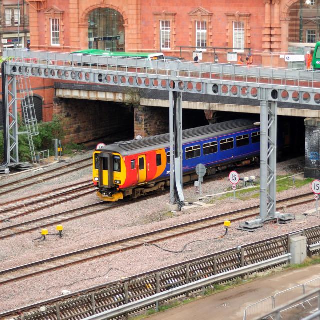 """""""Nottingham Train Station ."""" stock image"""
