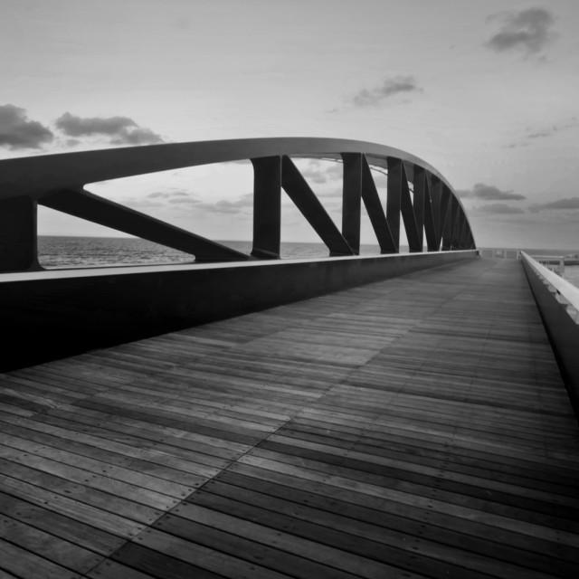 """The Breakwater Bridge"" stock image"