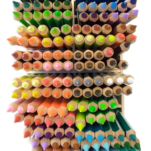 """Crayons (Top View)"" stock image"
