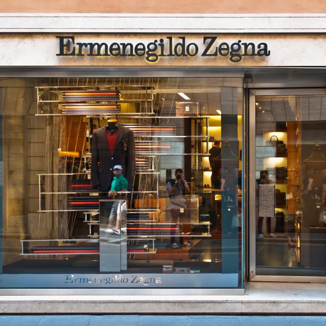 """""""Ermenegildo Zegna store"""" stock image"""