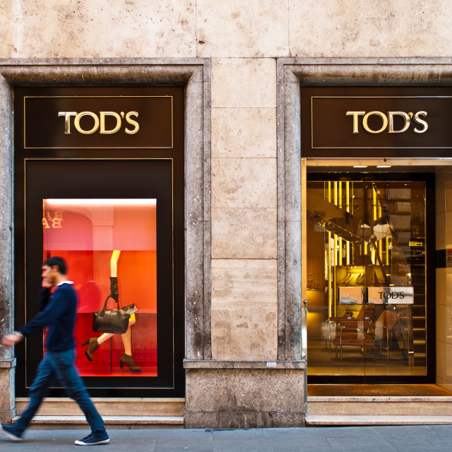 """Tod's store"" stock image"