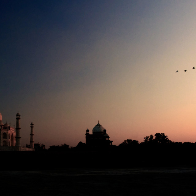 """Taj Mahasl Sunset ii"" stock image"