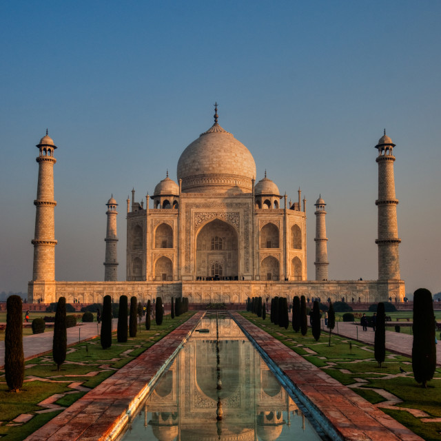 """Taj Mahal Sunset"" stock image"
