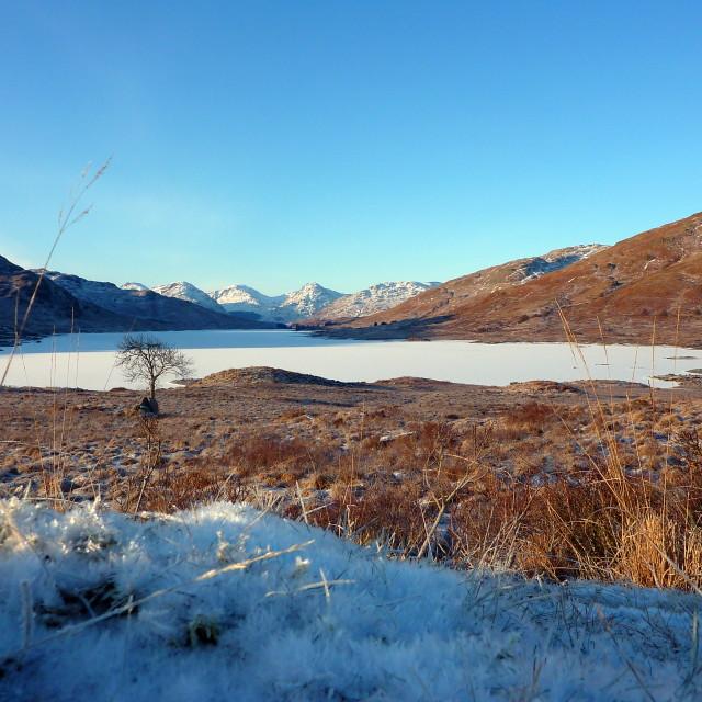 """Loch Arklet (2)"" stock image"