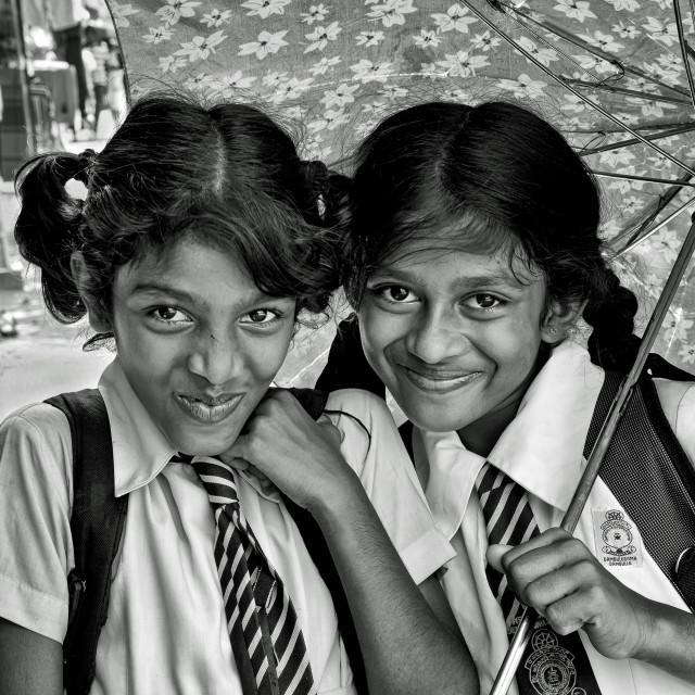 """SCHOOL GIRLS"" stock image"