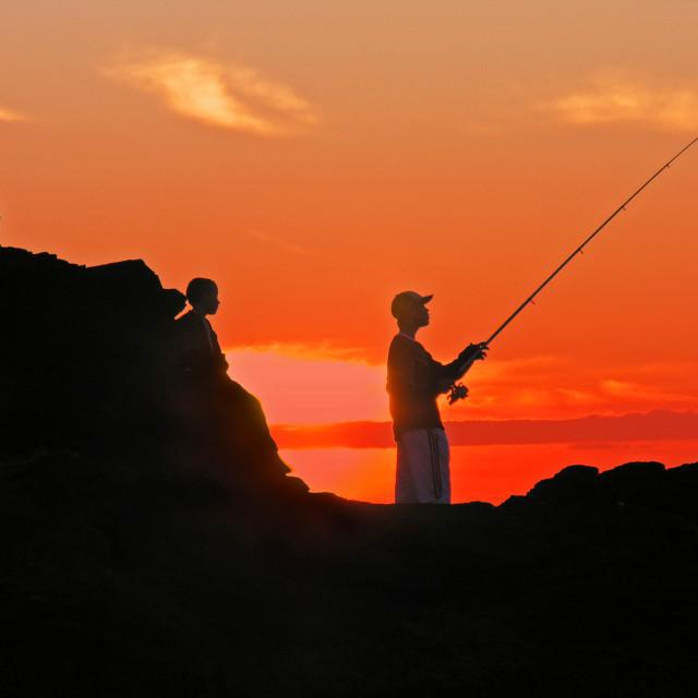 """Evening fishing"" stock image"