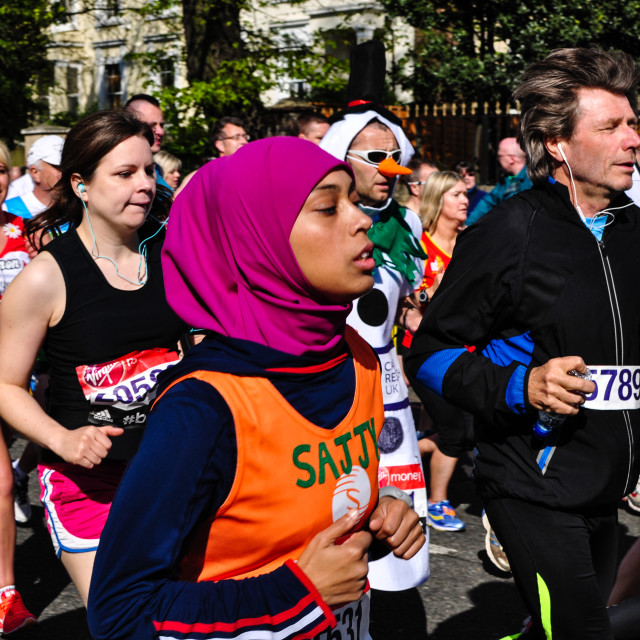 """London Marathon 2014"" stock image"