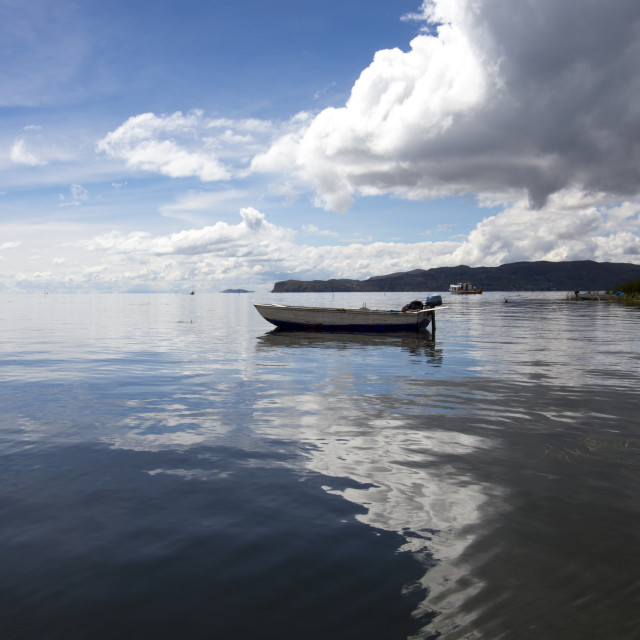 """Titicaca Reflection"" stock image"