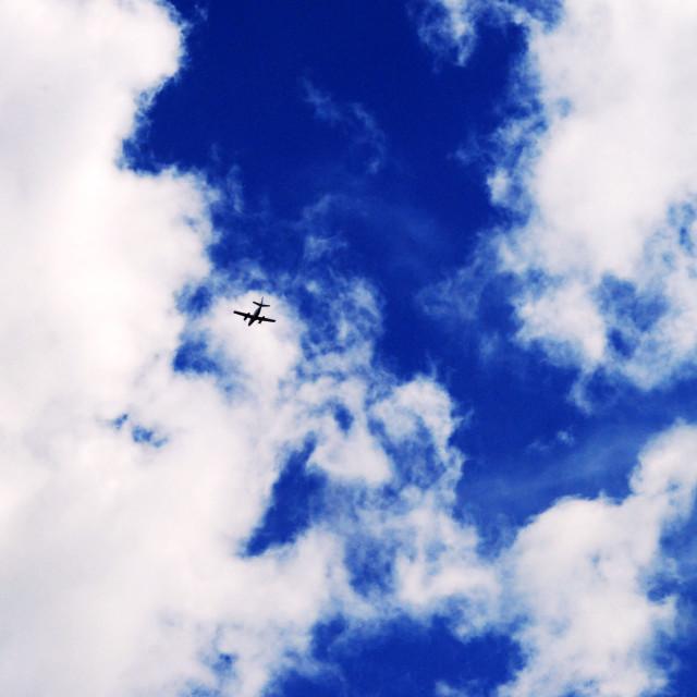 """""""Plane watching"""" stock image"""