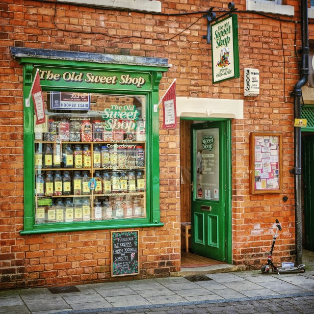 """The Old Sweet shop"" stock image"