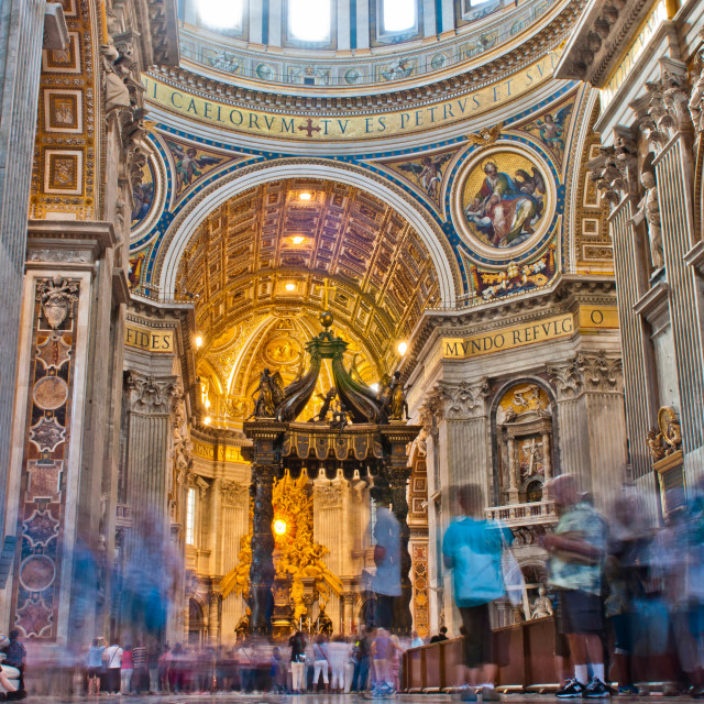 """Saint Peter's Basilica interior"" stock image"