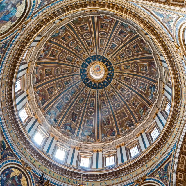 """Saint Peter's Basilica Dome"" stock image"