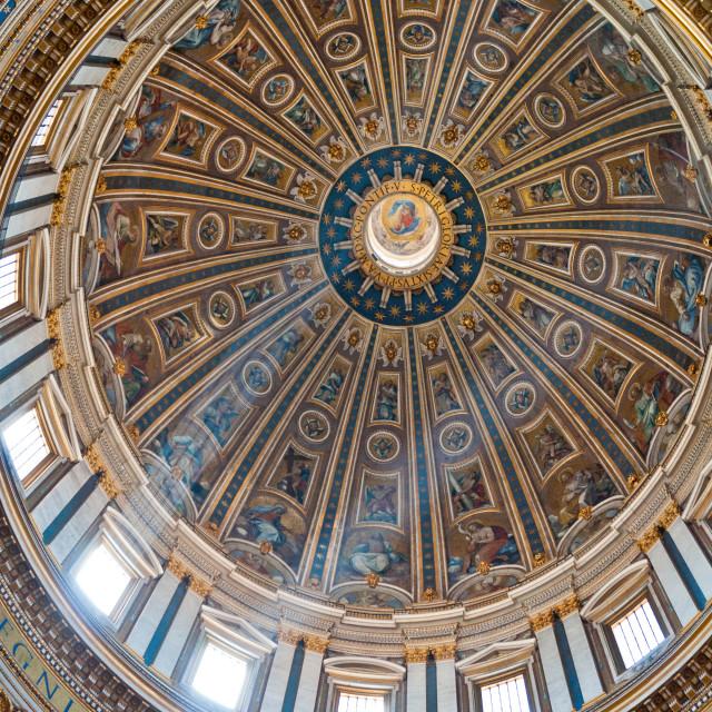 """Saint Peter's Basilica Dome"" stock image"