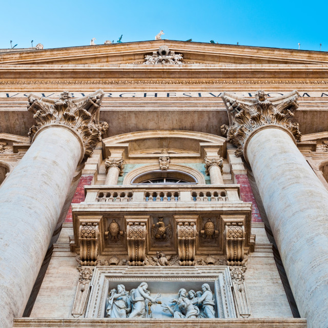 """Saint Peter's Basilica entrance"" stock image"