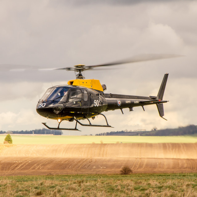 """Eurocopter AS350 on a training misson"" stock image"