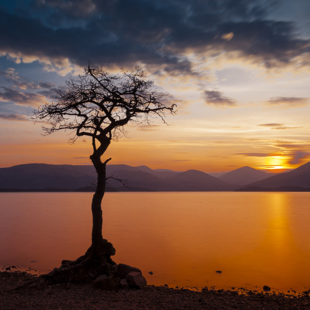 """Loch Lomond, Scotland - Sunset"" stock image"