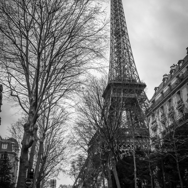 """Eiffel Tower Streets"" stock image"
