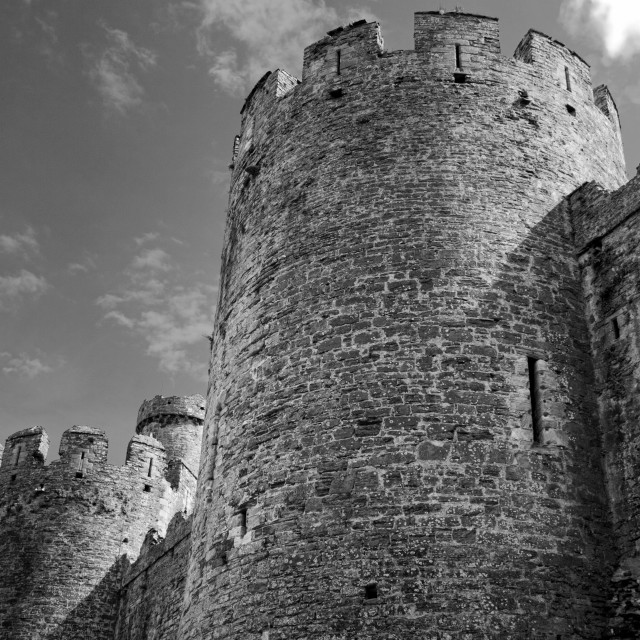 """Conwy Castle, Wales"" stock image"